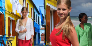 Linen clothes for women and for children, boys and girls