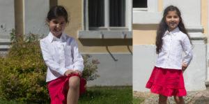 Odzież lniana dla dziewczynek