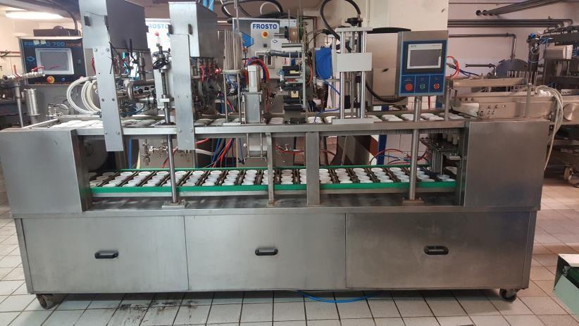 خط إنتاج الآيس كريم - لفة الآيس كريم ، حاويات 100 مل ، 200 مل ، 1 لتر ، 2 لتر ، في الكؤوس ، المخاريط ، الكبسولات