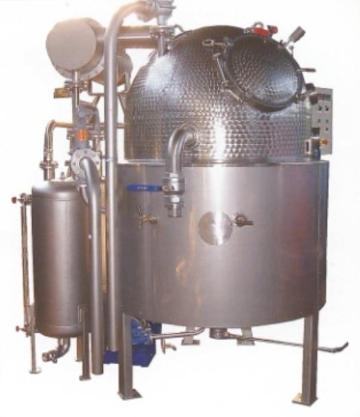 Vaporisateur sous vide WAA-24 a, d, pour la production de marmelade, de confiture de prunes et d'épaississement de pulpe de tomate