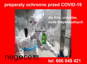 ochrona biologiczna przed wirusami COVID-19